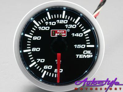 Autogauge Smoked Oil Temperature Gauge