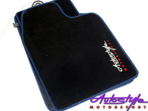 Autostyle Velour Black & Blue Floor Mats-0