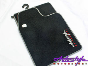 Autostyle Velour Black & Grey Floor Mats-0