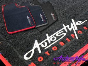 Autostyle Velour Black & Red Floor Mats-0