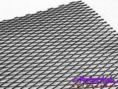 R-Line Wire Mesh Anodized Black (100x33cm)