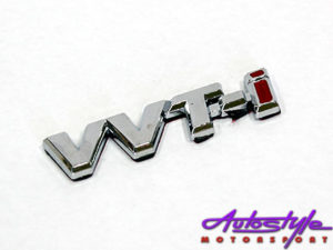 VVTi Chrome Sticker Badge-0