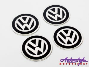 VW Black Wheel Center cap decals-0