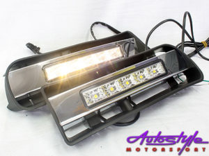 VW Golf MK4 Bumper Foglamps with LED DRL Design-0