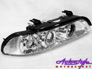 Suitable for S39 Angel Eye Chrome Headlights-0