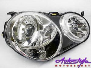 VW Polo 02-05 Chrome Angeleye Headlight -0