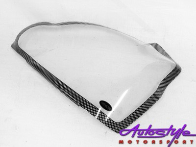 Carbon Look Headlight Guard To Fit Nissan Xtrail 09+