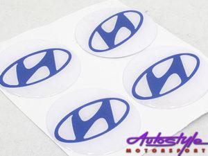 Hyundai Logo Gel Dome Sticker for Wheel Center Caps-0