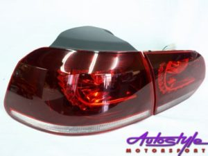 VW Golf 6 R20 Style Red Tailights-0