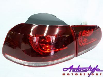 VW Golf 6 R20 Style Red Tailights