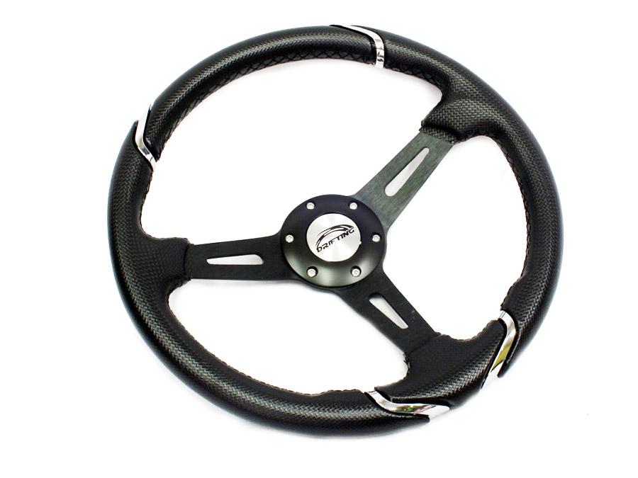 Nexon Drift Style Steerings - Black & Silver