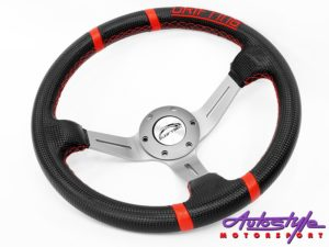 Nexon Drift Style Steerings - Black & Red-0