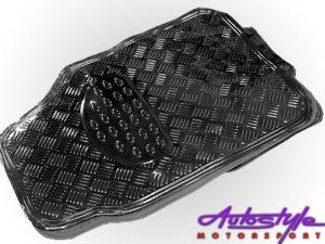 NX Gloss Black Rubber Car Mats-0