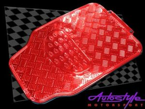 NX Gloss Red Rubber Car Mats-0