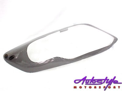 Carbon Look Headlight Shields for Toyota Fortuner 2012