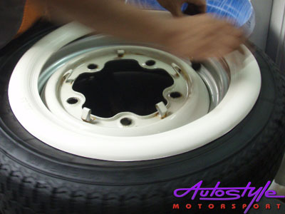 """White Wall """"Port-a-Wall"""" Panels for 15"""" Tyres-16981"""