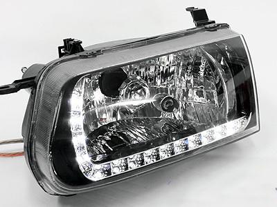 Toyota Tazz 2000 DRL LED Smoke Headlights