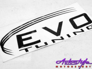 Evo Tuning Vinyl Sticker (35x15cm)-0