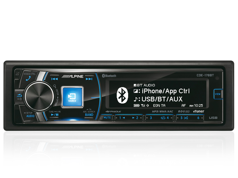 Alpine CDE-178BT Mp3 with USB & Bluetooth