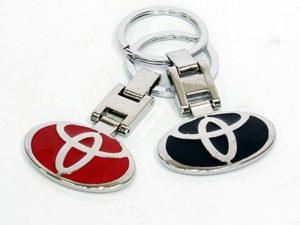 Chrome Toyota Logo Design Keyring-0