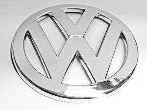 VW Round Emblem Stick on Badge-0