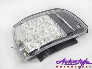 Toyota E8E9 Chrome & Black LED Cornerlamps-0