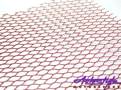R-Line Wire Mesh Anodized Red (100x33cm)-0