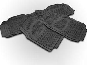 Universal Black Rubber Floormats for Bakkies (3piece) -0
