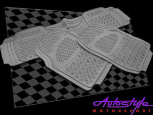 Universal Grey Rubber Floormats for Bakkies (3piece) -0