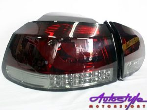 VW Golf Mk6 Smoke & Red LED Tailights-0