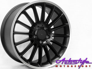 "18"" SSQ A45 Matt Black 5/112 Alloy Wheels-0"
