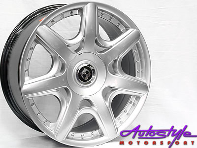 17″ Bentley Continental Hypersilver 4/100 & 4/114 Alloys