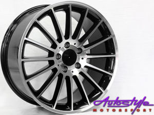 "18"" SSQ A45 Black & Silver 5/112 Alloy Wheels-0"