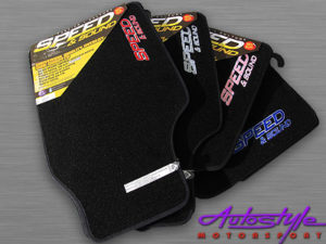 Speed and Sound Black & Silver Floormats-0
