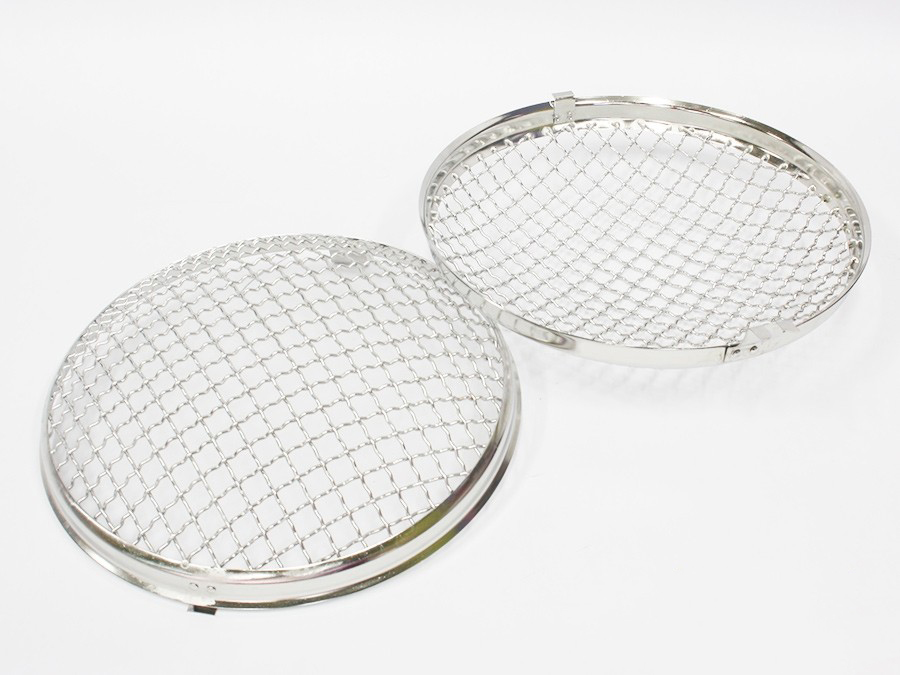 VW Beetle Headlight Mesh Grille Covers (pair) 50-67 models-18554