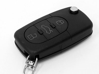 OEM Style Keyfob with Blade for Audi 3button-0