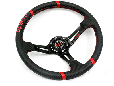 Sparco Black Leather Sport Steering