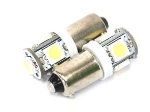 T10 5LED Parklight Bulbs (white)-0