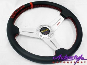 Mono Onyx Black with Red Stitch Sport Steering-0