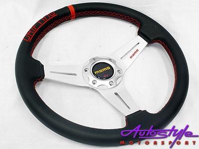 Mono Onyx Black with Red Stitch Sport Steering-0