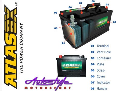 AtlasBX SMF Sealed Car Battery (650size)-18640