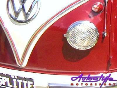 VW Beetle Headlight Mesh Grille Covers (pair) 50-67 models-18700