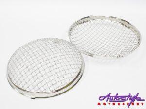 VW Beetle Headlight Mesh Grille Covers (pair) 50-67 models-0