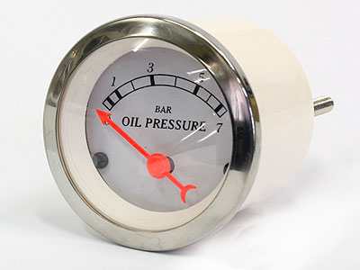 Autogauge Chrome Series Oil Pressure Gauge-0