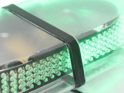 Universal Roofmount Emergency LED Strobelight (green)
