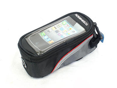 Phone Bicycle Holder with Storage Bag-0