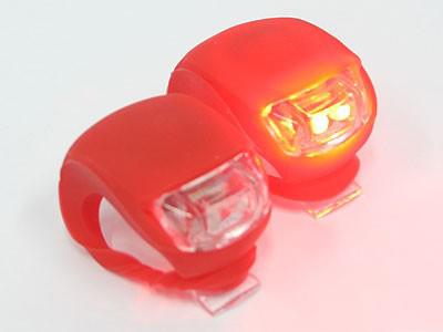 Universal Silicon & LED Bicycle Flashing Light (pair)