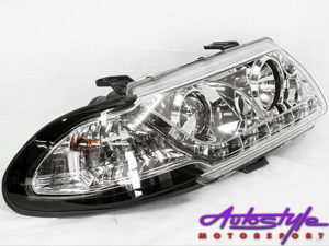 Opel Astra DRL Chrome 92-95 Headlights-0