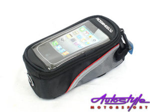 Phone Bicycle Holder with Storage Bag-0