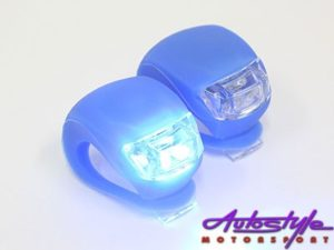 Universal Silicon & LED Bicycle Flashing Light (pair)-19034